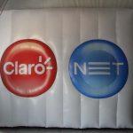 balão inflável Claro e net