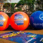 blimp-mercedes bens azul e laranja