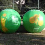 blimp-dirigível-inflável-verde dia do desafio