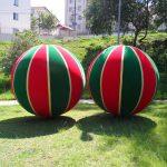 blimp-dirigível-inflável-bola de natal