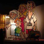 mascote inflavel Família