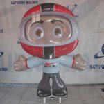mascote inflavel Motoqueiro