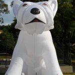 mascote inflavel Cachorro