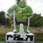 mascote inflavel hulk