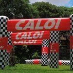 portal inflável Caloi chegada