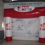 portal inflável Polo Motos