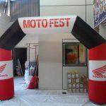 portal inflável Moto Fest Honda
