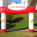 portal inflável Moto remaza