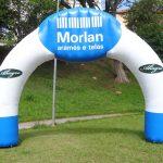 portal inflável Morlan Arames e telas