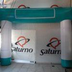 portal inflável saturno