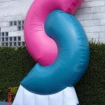 replica inflável personalizada rosa e azul