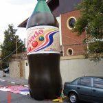 replica inflável litro de refrigerante