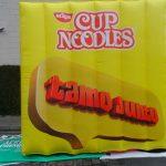 replicas infláveis cup noodles nissin