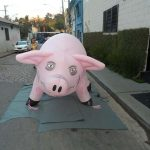 replica inflável porco grande