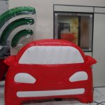 replica inflável carro com wifi