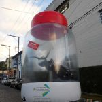replica inflável pote com dengue
