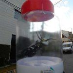 replica inflável pote de vidro