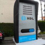 replica inflável HDL porteiro eletrônico