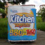 replica inflável kitchen papel higiênico