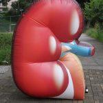 Pulmão replica inflável