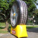 replica inflável della via