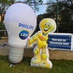replicas infláveis philips mascote