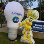 replicas infláveis philips led