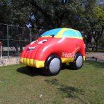 replica inflável carro rodoil