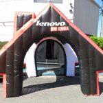 tenda inflável Lenovo