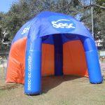 tenda inflável SESC Azul
