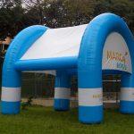 tenda inflável Marca vento