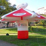 tenda inflável tipo quiosque honda