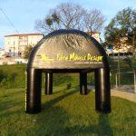 Fibra móveis design tenda inflável preta