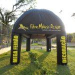 Fibra móveis design tenda inflável