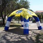 tenda inflável Axe da sorte