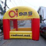 OI 92.5 FM tenda inflável radiooi.net