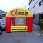 tenda inflável OI 92.5 FM