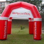 Reconflex vermelha tenda inflável
