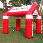 tenda inflável Reconflex vermelho