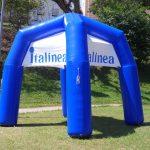 tenda inflável Italínea azul