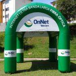 tenda inflável OnNet telecon