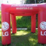 tenda inflável LG eletrônicos
