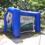 tenda inflável consciência verde