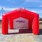tenda inflável Vitamix