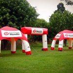 tendas-infláveis honda vermelha e branca