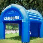 tenda-inflável-Sansung azul