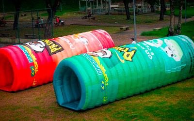 tuneis-infláveis para crianças coloridos