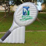 Réplicas infláveis believe play Tennis